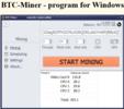 Thumbnail BTC-Miner - program for Windows